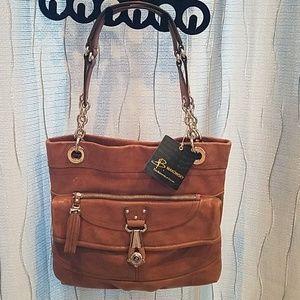 B.Makowsky Drew Brown Leather Handbag